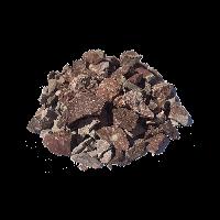 Крошка мраморная Красная с белыми прожилками, фракция 5-20 мм