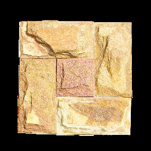 """Плитка Златолит """"Золото Инков"""", золотисто-желтый, c заколом, толщина 15-25 мм"""
