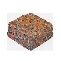Капустинское (Rosso Santiago GR1) гранит брусчатка колотая 10х10х5 см