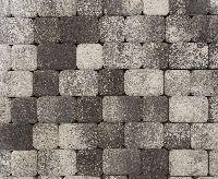 """Тротуарная плитка """"Классико"""" фактура Листопад, цвет: Антрацит, толщина 6 см"""