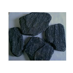 Плитняк Златолит черный галтованный 2,5-3,5 см