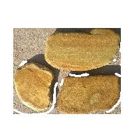 Плитняк Златолит желтый галтованный 1,5-2 см