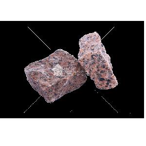Емельяновское (Rosso Toledo GR8) гранит брусчатка колотая 10х10х5 см