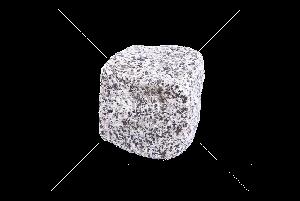 Покостовское (Grey Ukraine GG2) гранит брусчатка колотая 10х10х10 см