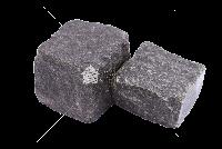 Габбро Слипчицкое (Kometa Black GB2), Адамовское гранит брусчатка 10х10х10 см