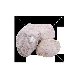 Мрамор белый галтованый фракция 60-100 мм