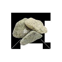 Галька Змеевик салатовый галтованый фракция 40-70 мм
