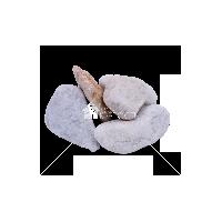 Мрамор белый галтованый фракция 40-70 мм