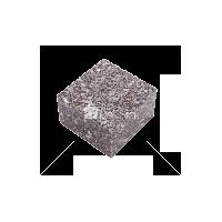 Жежелевское (Cardinal Grey GG4) гранит брусчатка полнопиленая 10х10х4 см