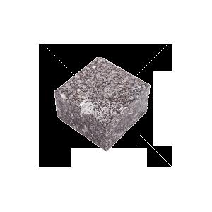 Покостовское (Grey Ukraine GG2) гранит брусчатка полнопиленая 10х10х4 см