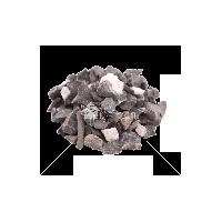 Черная крошка мраморная с белыми прожилками фракция 10-20 мм