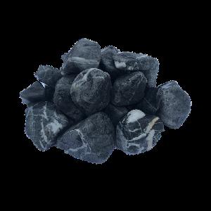 Галька черная с белыми прожилками, фракция 20-40 мм
