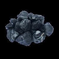 Крошка мрамор окатаный черный с белыми прожилками, фракция 20-40 мм