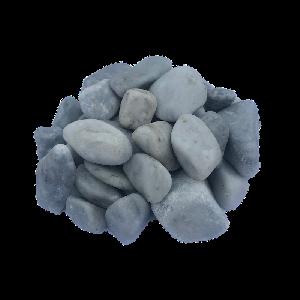 Крошка мраморная галтованная серо-голубая 10-40 мм