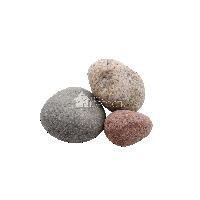 Галька речная Цветной микс 5-10 см
