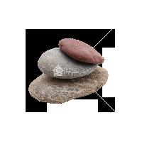 Галька речная Цветной микс (плоская) 5-10 см