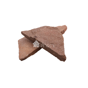 """Плитняк песчаник """"Терракотовый"""" красный 3 см"""
