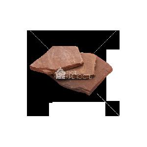 """Плитняк песчаник """"Терракотовый"""" красный 1,5-2 см"""