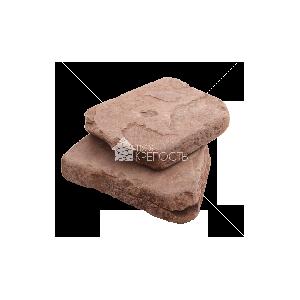 """Плитняк песчаник """"Терракотовый"""" красный галтованный 4-5 см"""
