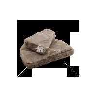 """Плитняк песчаник """"Серо-зеленый"""" галтованный 4-5 см"""