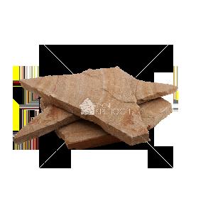 """Плитняк песчаник """"Радуга"""" с разводами 3 см"""