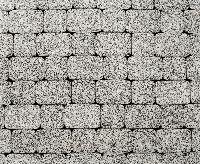 """Тротуарная плитка """"Классико"""" стоунмикс, цвет: бело-черный, толщина 6 см"""