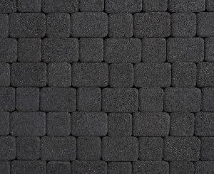 """Тротуарная плитка """"Классико"""" гранитная фактура, цвет: черный, толщина 6 см"""