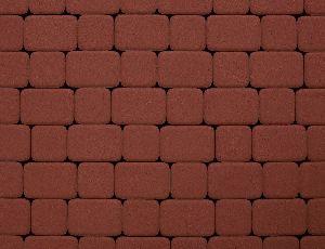 """Тротуарная плитка """"Классико"""" гладкая, цвет: красный, толщина 6 см"""