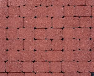 """Тротуарная плитка """"Классико"""" гранитная фактура, цвет: красный, толщина 6 см"""