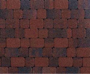 "Тротуарная плитка ""Классико"" фактура Листопад, цвет: Клинкер, толщина 6 см"