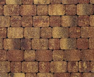"""Тротуарная плитка """"Классико"""" фактура Листопад, цвет: Осень, толщина 6 см"""