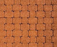 """Тротуарная плитка """"Классико"""" гранитная фактура, цвет: оранжевый, толщина 6 см"""