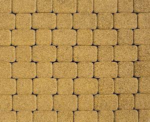 """Тротуарная плитка """"Классико"""" гранитная фактура, цвет: желтый, толщина 6 см"""