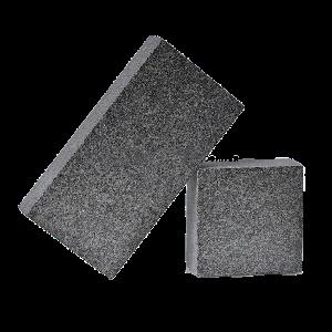 Габбро Слипчицкое (Kometa Black GB2), Адамовское полнопиленая брусчатка из гранита (термообработанная) 200х100х50