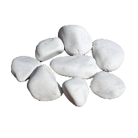 Белая крошка (галька) уральская мраморная галтованая, фракция 20-40; 40-70; 70-150 мм