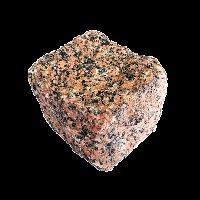 Емельяновское (Rosso Toledo GR8) гранит брусчатка колотая 10х10х10 см