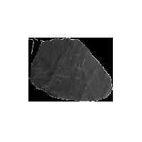 Камень для дорожек Сланец черный Графит галтованный 1,5-3 см